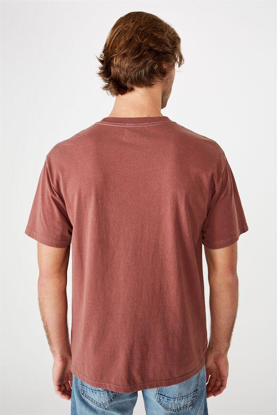 Washed Pocket T-Shirt, AGED WINE