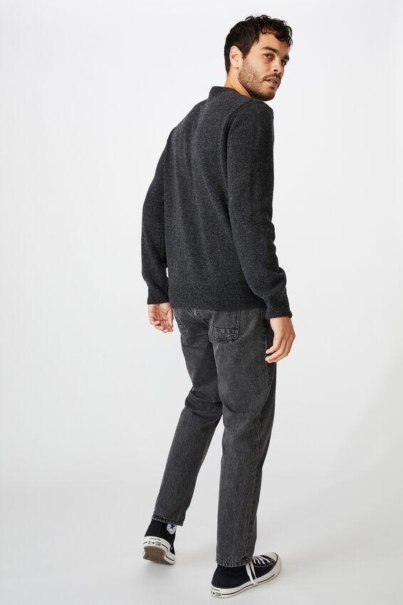 Premium Crew Knit, CHARCOAL MARLE