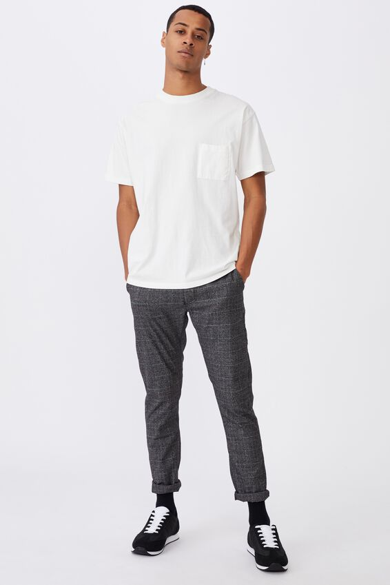 Skinny Stretch Chino, BLACK WHITE CHECK