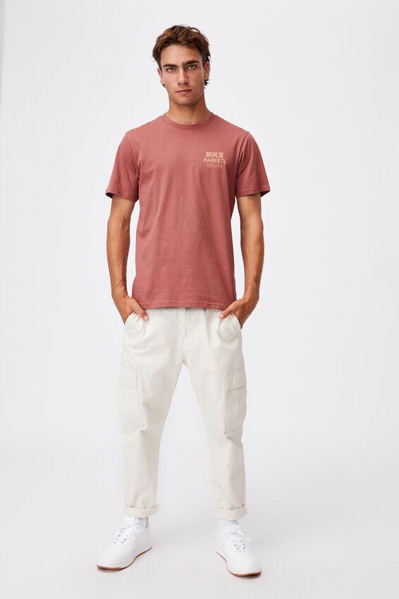 Tbar Cny T-Shirt, OX BLOOD/NEW YEAR MARKETS