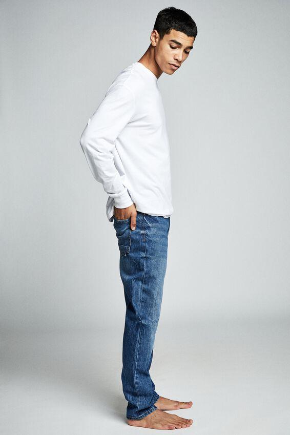Tapered Leg Jean, AGED INDIGO