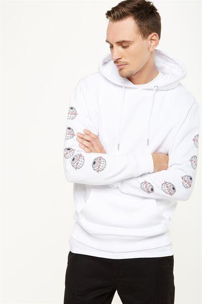 Fleece Pullover 2, WHITE/TOKYO GLOBE