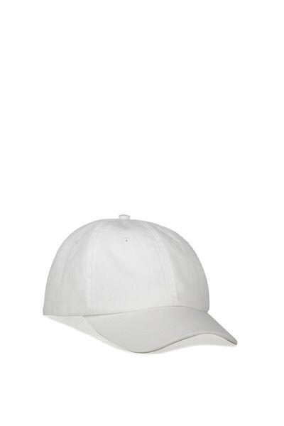 Strap Back Dad Hat, BRONX YC/WHITE