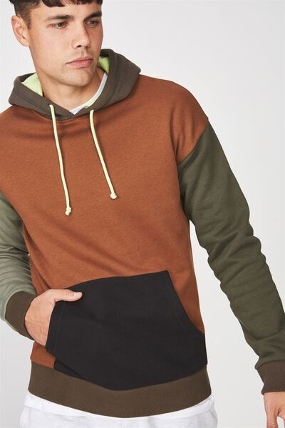 Drop Shoulder Pullover Fleece, ROSIN GREEN/BUSH GREEN/THYME GREEN/BLACK/DACHSHUND