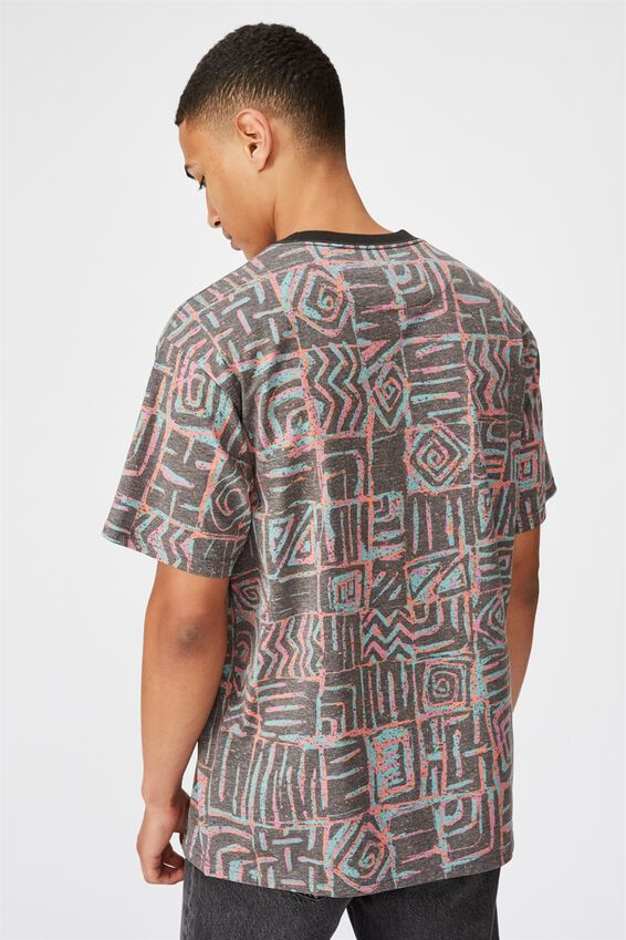 Festival Tee, NEON STATIC SQUARES