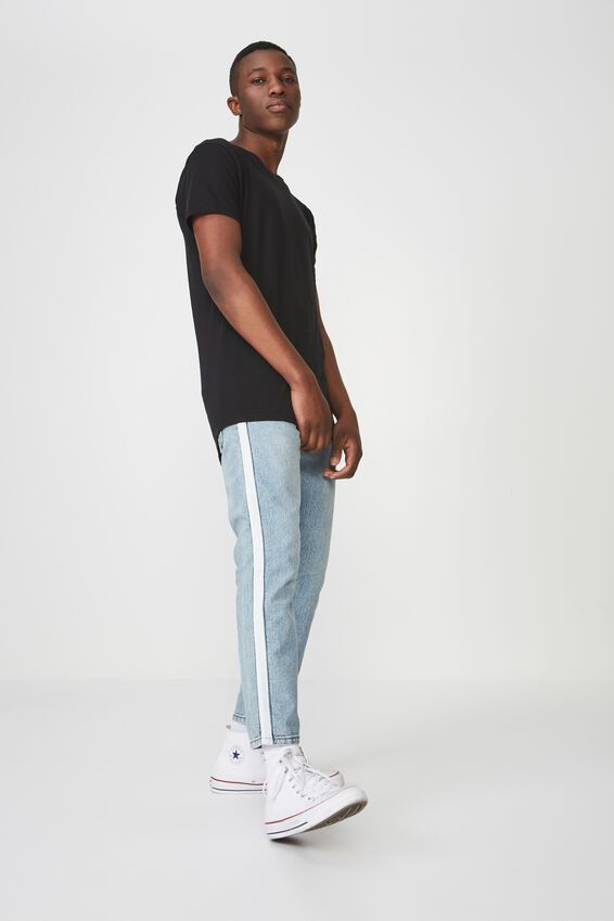 Slim Fit Jean, LEGEND BLUE CROP