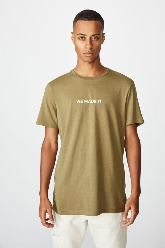 Personalised Crew Tee, JUNGLE KHAKI