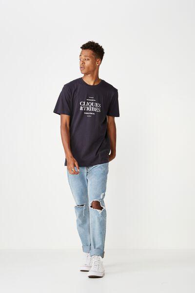 Urban T-Shirt, INK NAVY/CLIQUES & TRIBES PARIS