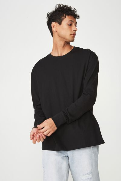 Tbar Long Sleeve, BLACK