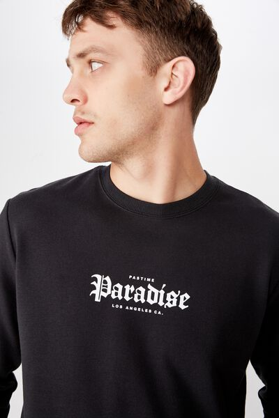 Curved Longline Fleece, WASHED BLACK/PARADISE