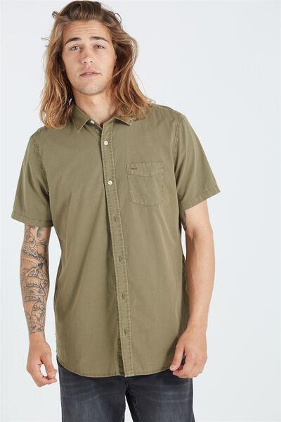 Sunset Short Sleeve Shirt, WASHED KHAKI