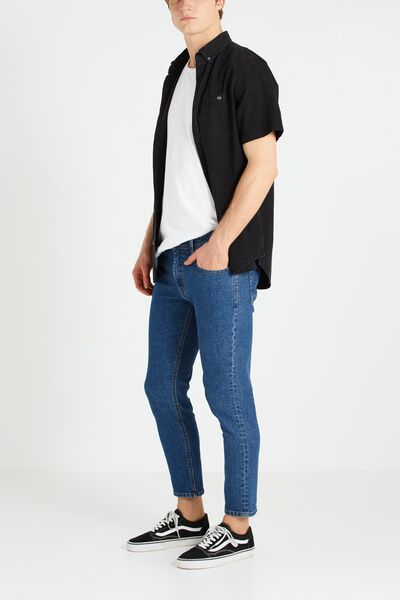 Slim Fit Jean, STATIC BLUE CROP