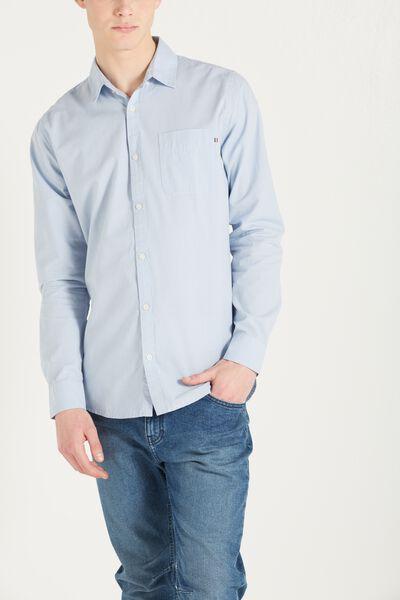 Brunswick Shirt 3, BLUE MICRO CHECK