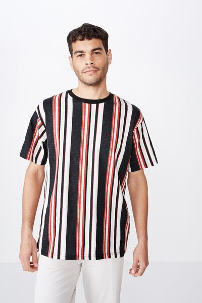 Downtown Loose Fit Tee, BLACK/ROSE DUST/WHITE/BOSSA NOVA RED/NY COLLECTIVE