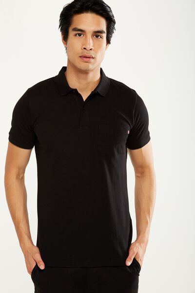 Icon Polo, BLACK/POCKET SLIM