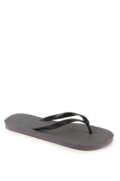 Bondi Flip Flop, CHARCOAL/BLACK