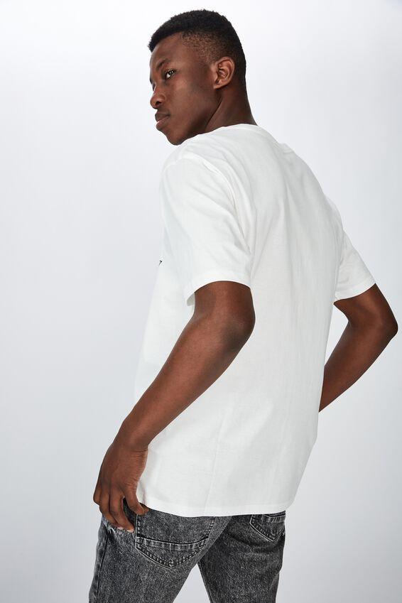 Tbar Collab Movie And Tv T-Shirt, LCN UNI SK8 VINTAGE WHITE JURASSIC PARK - TIE