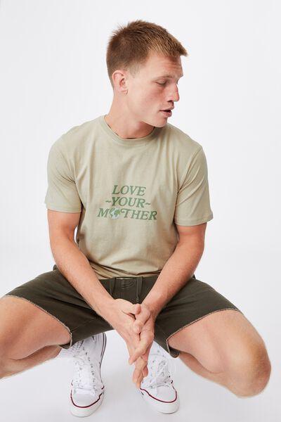 Tbar Art T-Shirt, PALE SAND/LOVE YOUR MOTHER