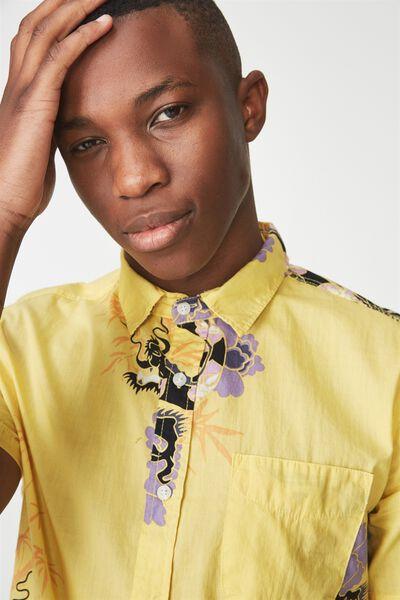 Vintage Prep Short Sleeve Shirt, BAMBOO DRAGON