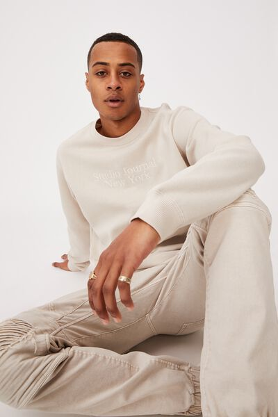 Crew Fleece 2, PEARL/STUDIO JOURNAL