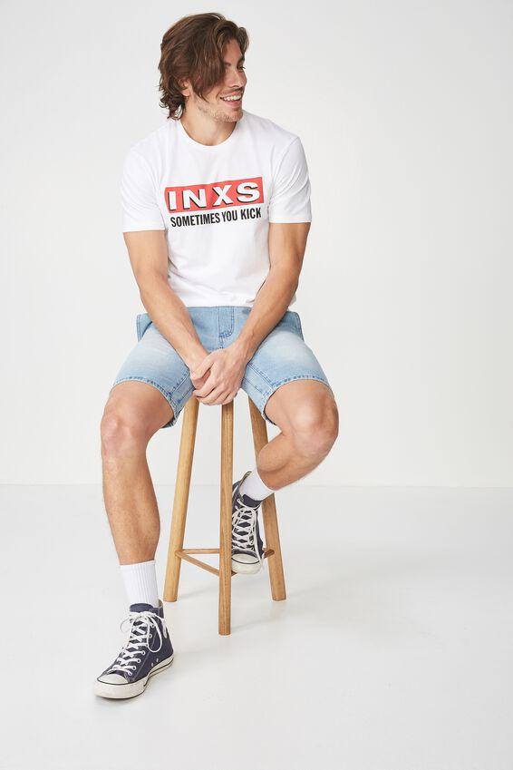 INXS T Shirt, LC WHITE/INXS-SOMETIMES YOU KICK