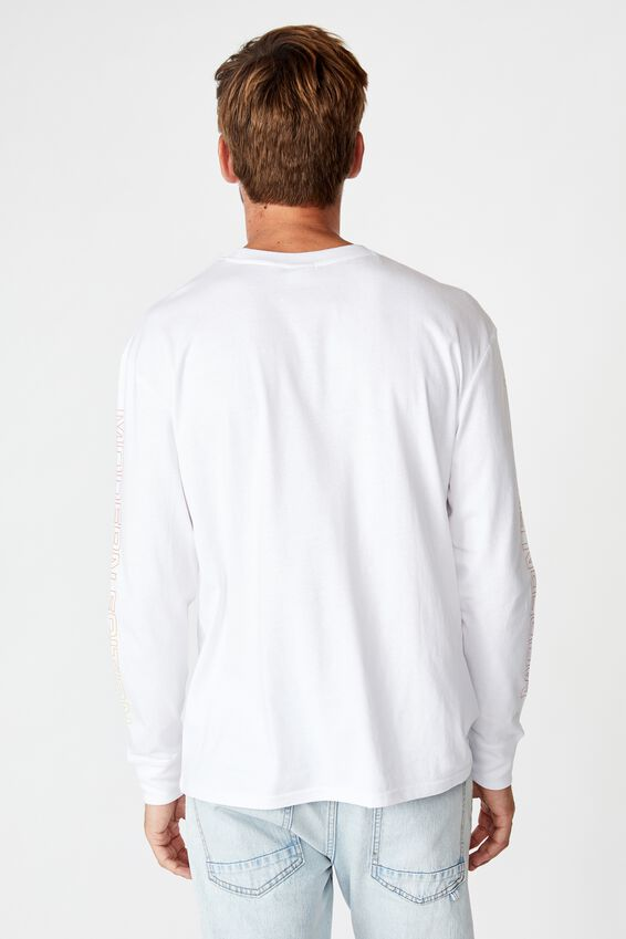 Tbar Long Sleeve, WHITE/MODERN EDITION FADE