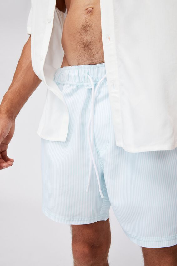 Swim Short, BLUE WHITE STRIPE