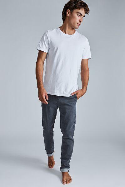 Elasticated Slim Jean, GREY STORM