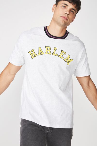 Downtown Loose Fit Tee, WHITE MARLE/HARLEM