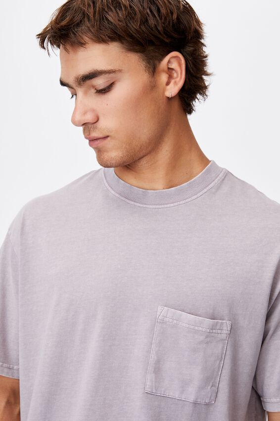 Washed Pocket T-Shirt, WASHED BRICK
