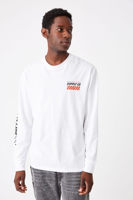 Tbar Long Sleeve, WHITE/SUPPLY CO.