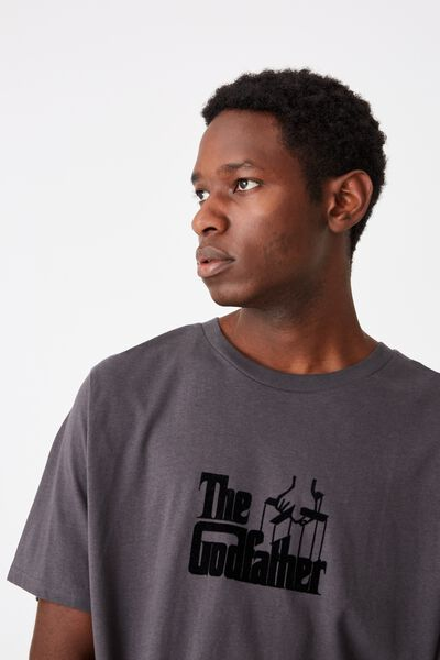 Tbar Collab Movie And Tv T-Shirt, LCN PAR SK8 FADED SLATE/THE GODFATHER - LOGO