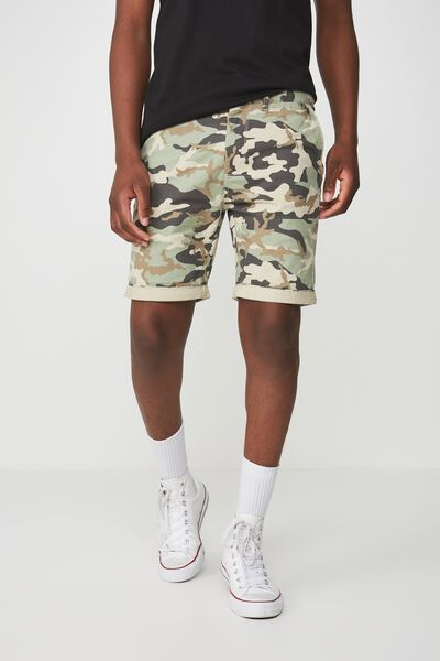 Washed Chino Short, SAND/SEASGREEN CAMO