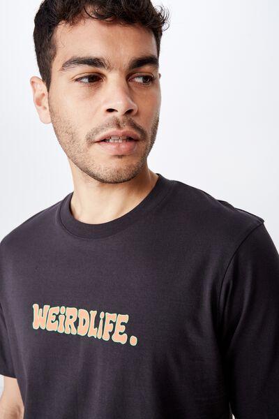 Tbar Art T-Shirt, SK8 WASHED BLACK/WEIRDLIFE