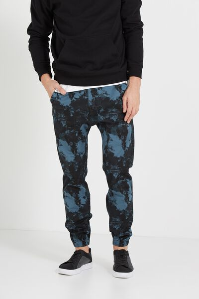 Drake Cuffed Pant, STEEL BLUE ABSTRACT CAMO