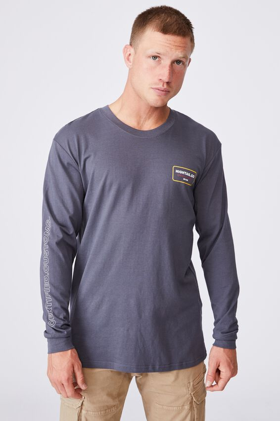 Tbar Long Sleeve T-Shirt, LATE NIGHT BLUE/HIGHTAIL CO