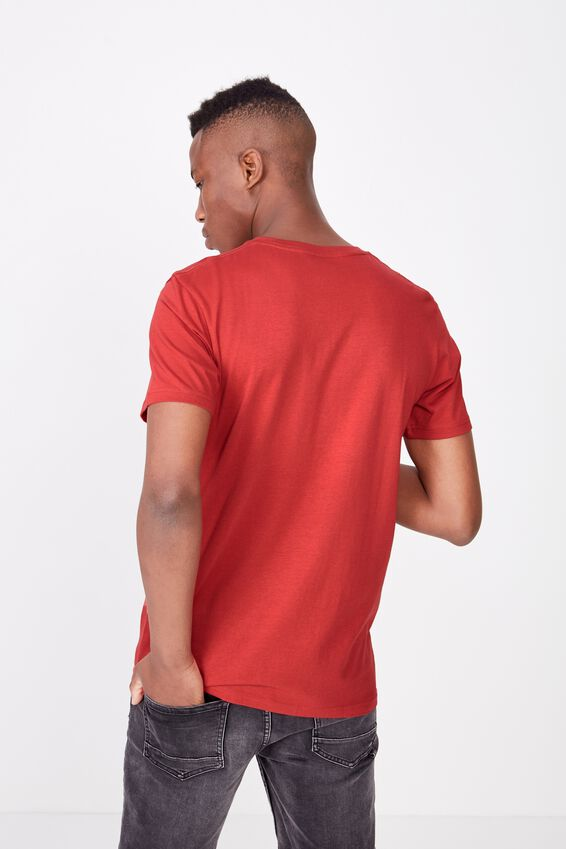 Essential Crew Tee, RACE RED