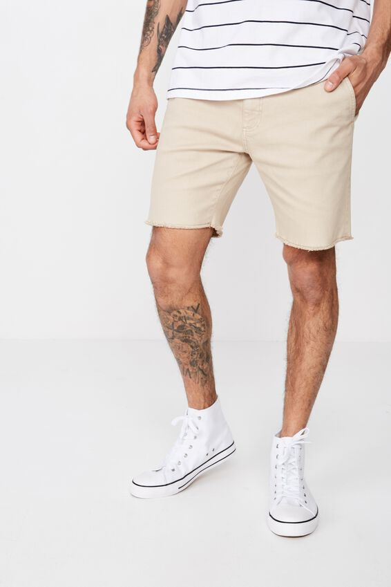 Raw Hem Chino, WASHED SAND