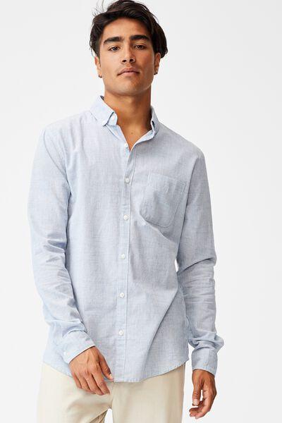 Brunswick Shirt 3, TEXTURED BLUE