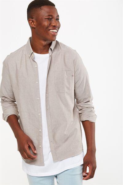 Brunswick Shirt 3, SAND OXFORD