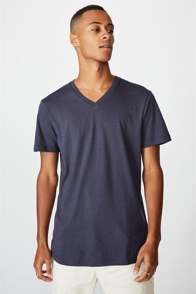 Essential Vee Neck T-Shirt, TRUE NAVY