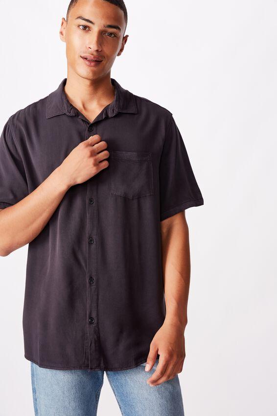 91 Short Sleeve Shirt, WASHED BLACK