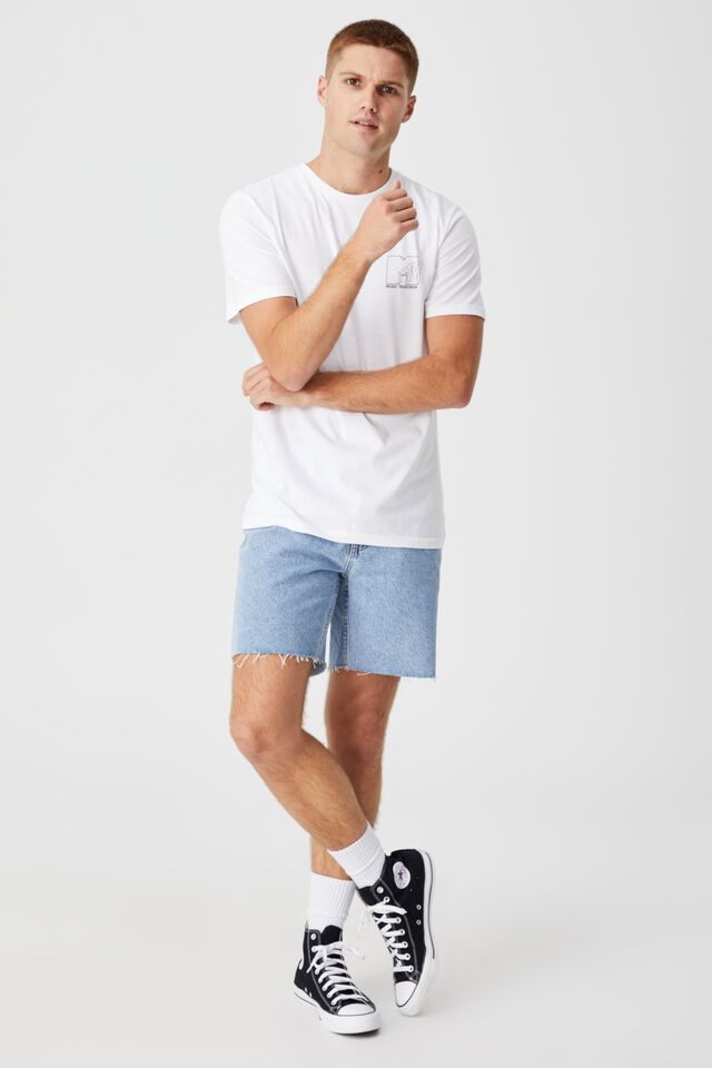 Tbar Collab Pop Culture T-Shirt, LCN MTV WHITE/MTV - EXCLUSIVE LOGO