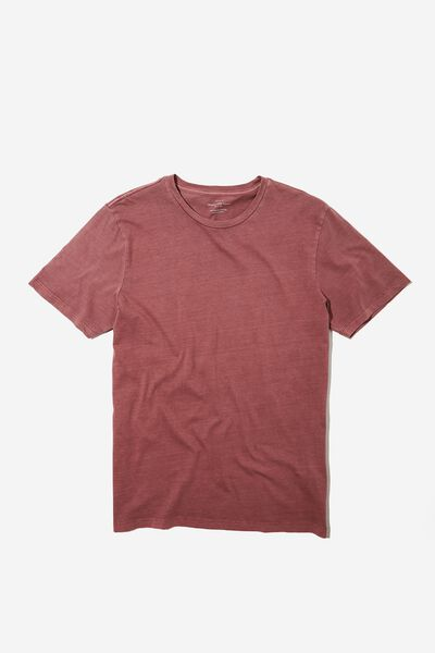 Organic Crew T-Shirt, AGED WINE