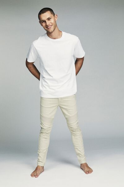 Skinny Tapered Jean, TAUPE RIBBED