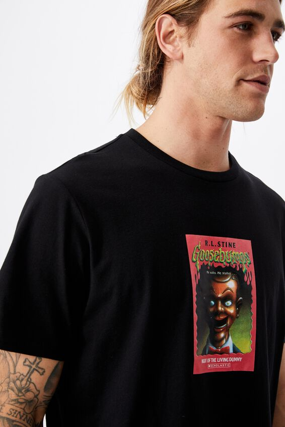 Tbar Collab Movie And Tv T-Shirt, LCN SON BLACK/GOOSEBUMPS - DUMMY