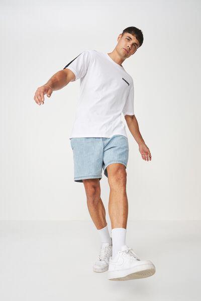 Active Drop Shoulder Longline Tee, WHITE/MESH SLEEVES/RAIDERS CHEST