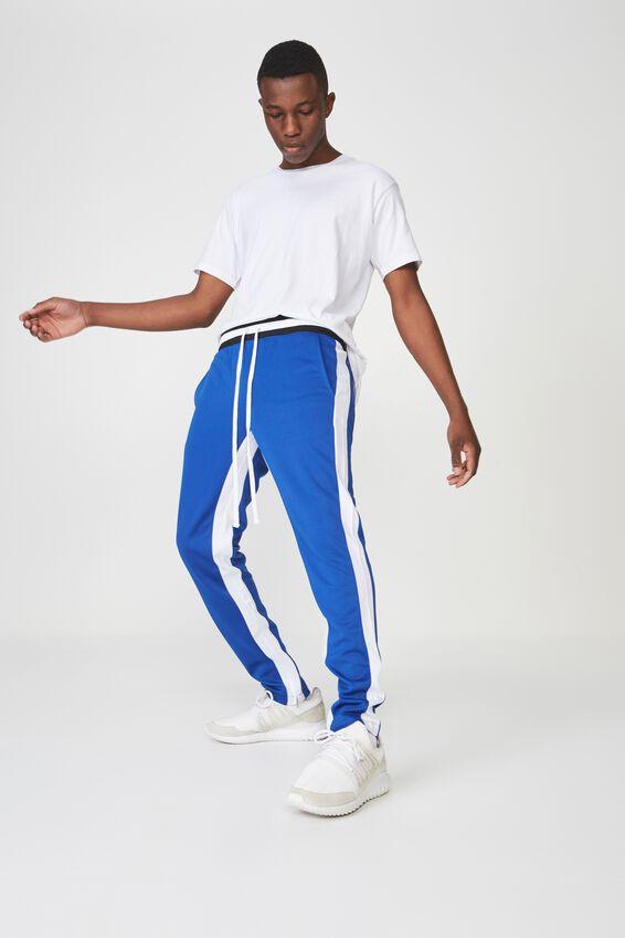 Urban Side Stripe Track Pant, BLUE / WHITE PANEL