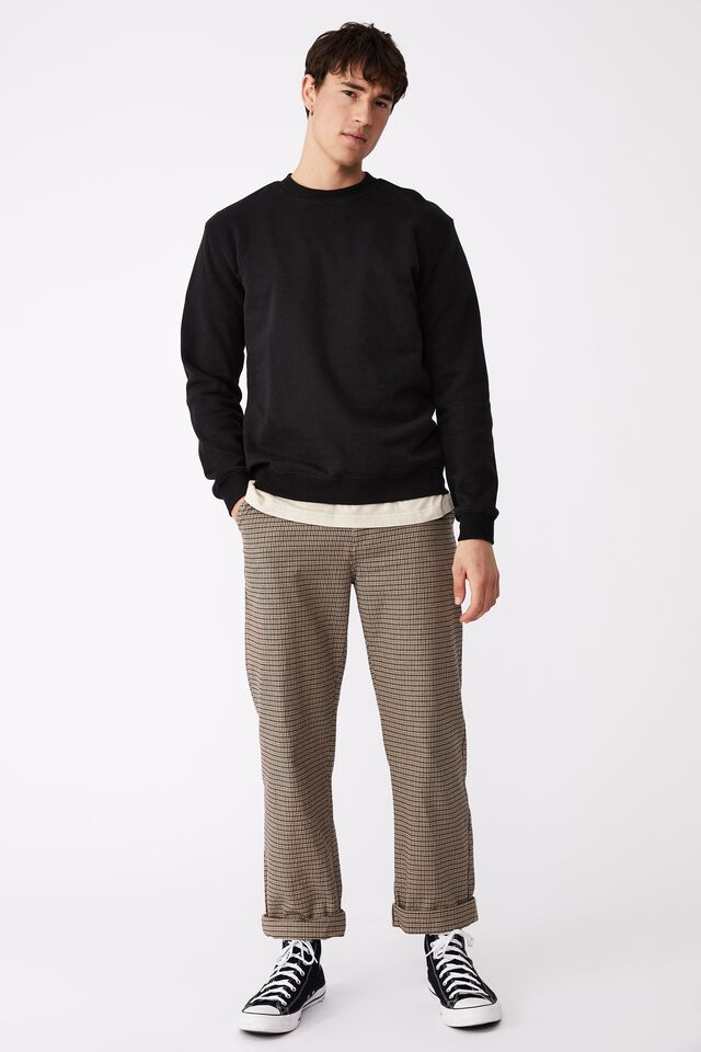 Loose Fit Pant - Yd Check, BROWN HOUNDSTOOTH