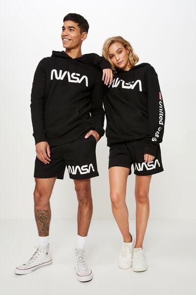 Volley Jogger Short, BLACK / LCN NASA
